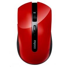 RAPOO myš 7200P USB optická, bezdrátová, červená
